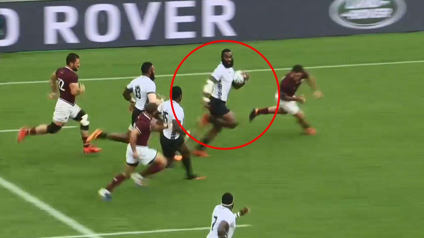 Rugby World Cup: Radrada on fire as Fiji thump Georgia