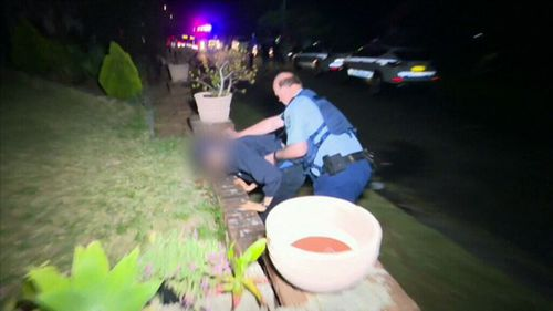 Police were called after the brawl broke out at the Gladesville home.
