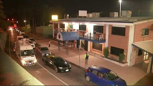 Mr Woodward was allegedly stabbed outside the Brothers St Brendans Leagues Club in Rocklea, south of the Brisbane's  CBD. (9NEWS)