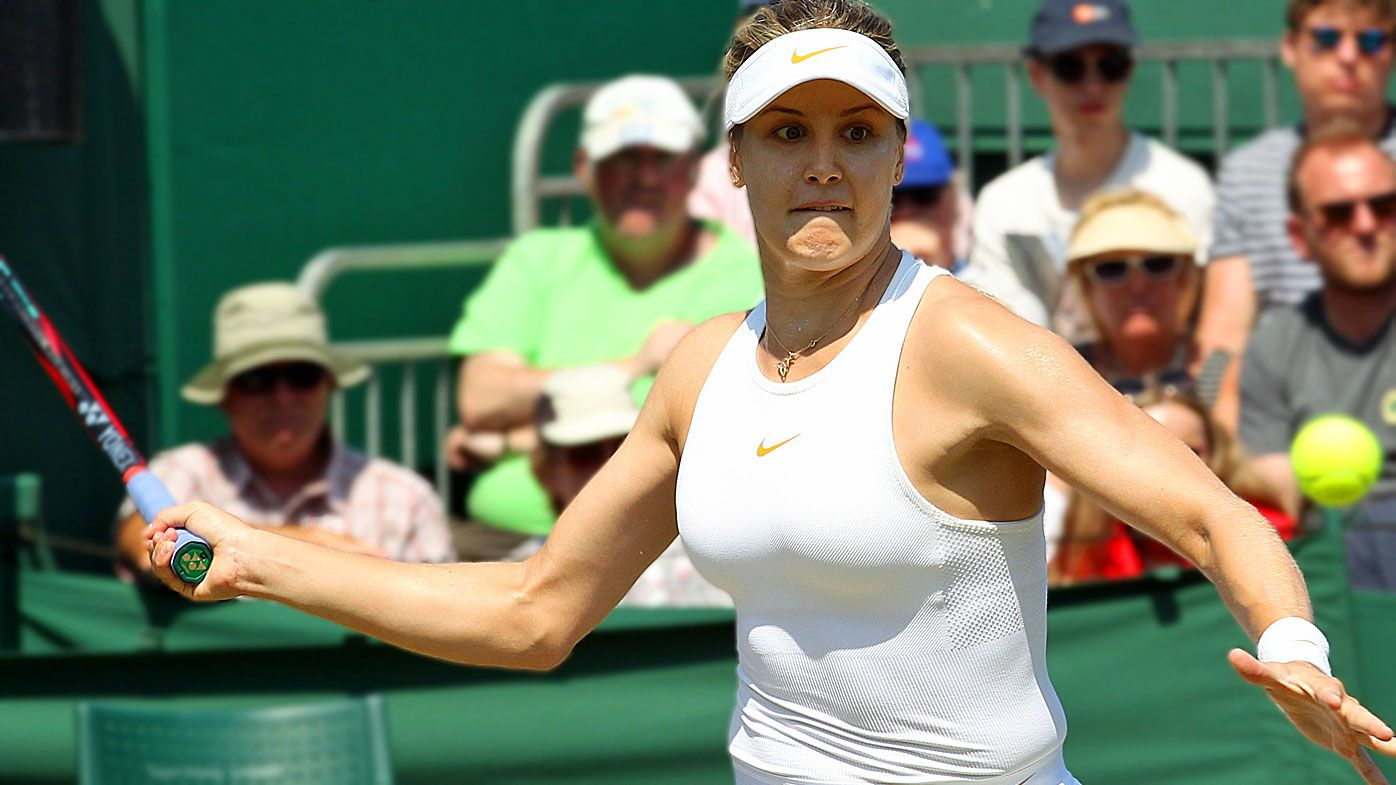 Eugenie Bouchard distracted by Wimbledon ball boy's embarrassing gaffe