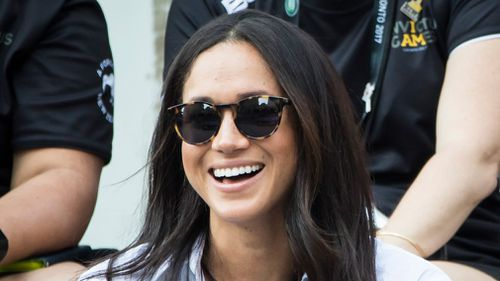 US actress Megan Markle at the 2017 Invictus Games. (AAP)