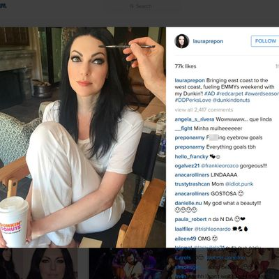 Orange is The New Black's Laura Prepon gets Dunkin'