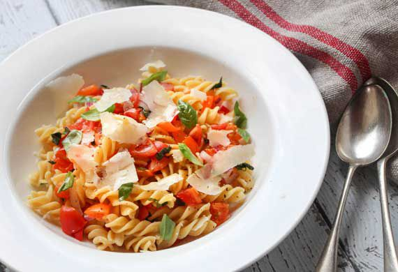 Liliana Battle's fusilli with no-cook fresh tomato sauce