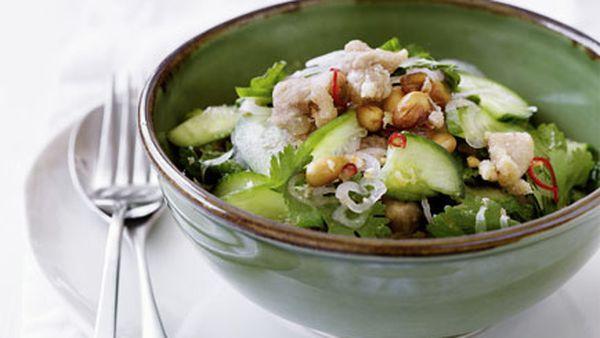 Thai chicken and cucumber salad