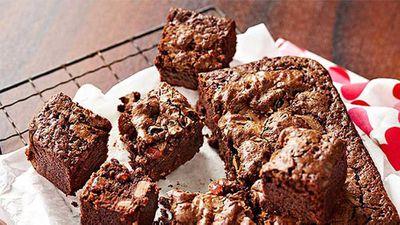 "Recipe: <a href=""https://kitchen.nine.com.au/2016/05/05/15/13/deliciously-decadent-black-forest-brownie"" target=""_top"">Deliciously decadent black forest brownie</a>"
