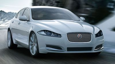 The Jaguar XF 2.2D Premium Luxury was rated the best value premium large car, with the Audi A6 coming second, and the Mercedes-Benz E200 coming third. (Supplied)