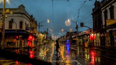 A rainy day in Melbourne.