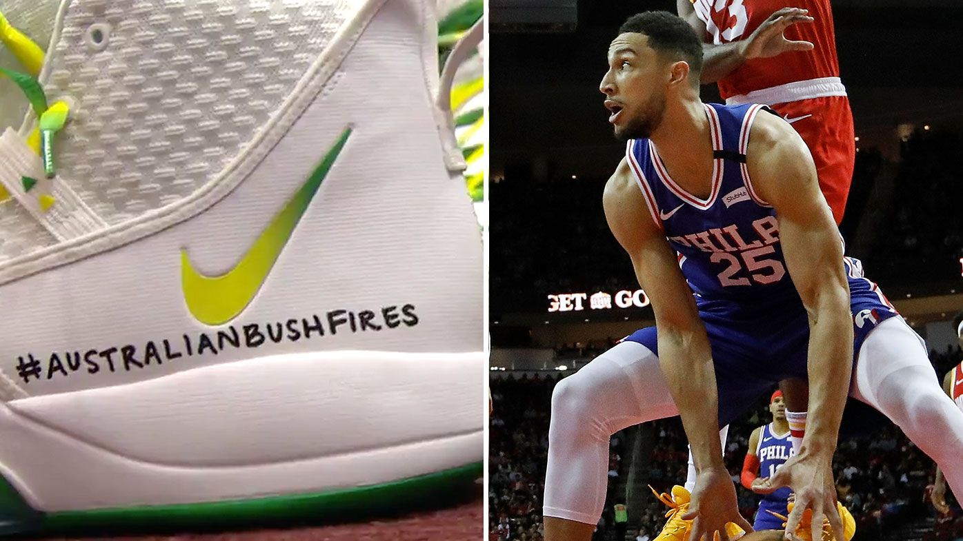 Ben Simmons pays tribute to bushfire victims
