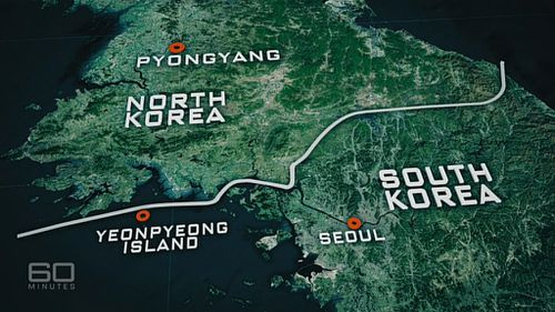 Seoul is approximately 55km from South Korea's border with the north