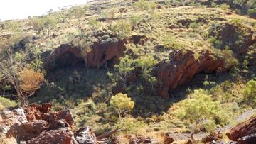 Photo of the Juukan Gorge, some 60 kilometres north-west of Mount Tom Price in Western Australia