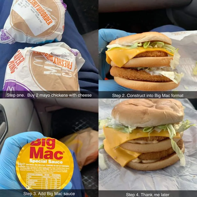 Reddit/craig3030 Chicken Mac Mcdonald's hack