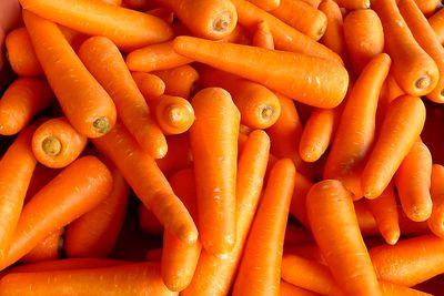 Carrots: 3.45g sugar per 100g
