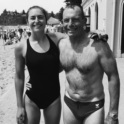 Frances Loch and her father Tony Abbott.
