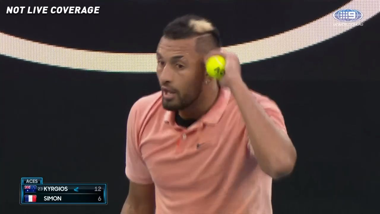Nick Kyrgios drops hilarious Rafael Nadal imitation after being hit with harsh time violation, umpire ripped by greats