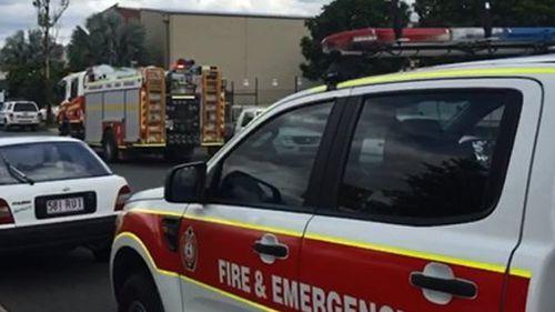 Building fire near Redbank railway station