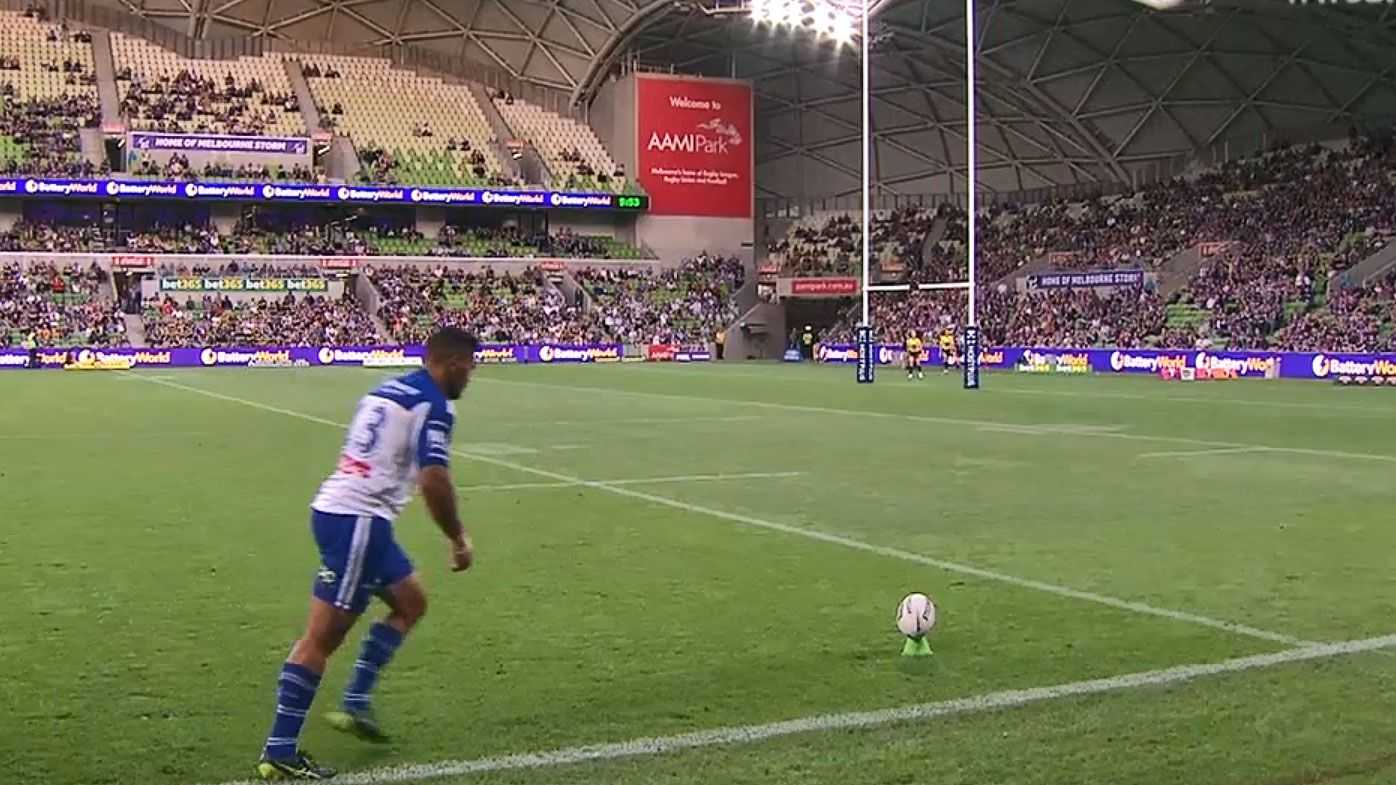 NRL admits key Bulldogs conversion mistake in Storm narrow victory