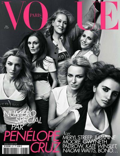 Meryl Streep, Gwyneth Paltrow, Penelope Cruz with Kate Winslet, Julianne Moore, Naomi Watts.
