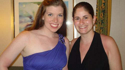 Ms Ritze (left) and a friend.