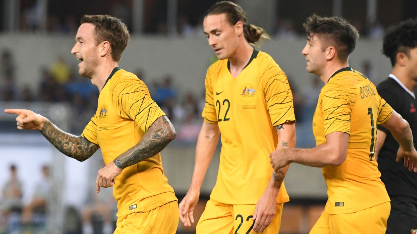 Ruthless Socceroos hit Taiwan for seven goals in World Cup qualifying