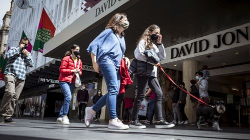 Shoppers in Melbourne after the lockdown ended.