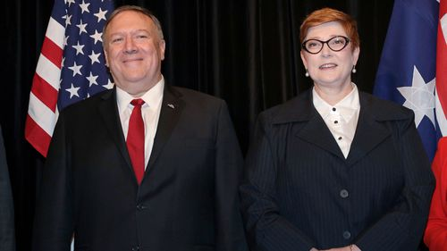 U.S. Secretary of State Mike Pompeo, and Australia's Foreign Minister Marise Payne.