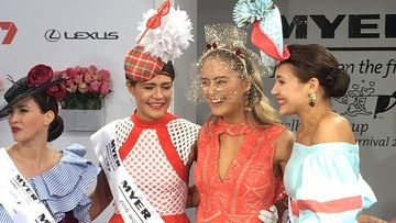 New Zealand jewellery designer Olivia Moor (second from left) won the coveted title. (9NEWS)
