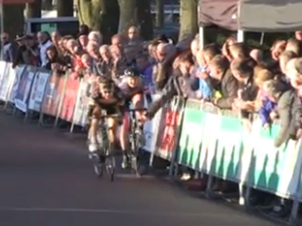 Aussie cyclist taken out by spectator