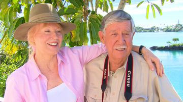 Reg Grundy's long-lost daughter challenges widow over fortune