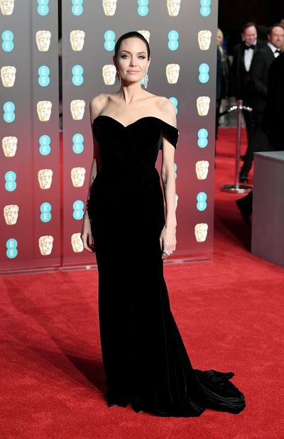 Angelina Jolie in Ralph & Russo at the British Academy Film Awards (BAFTAs) in London in February, 2018
