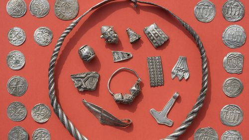 """Jewellery linked to the era of Danish King """"Harald Bluetooth,"""" Gormsson, who lived in the 10th century, has also been found on a German Island."""