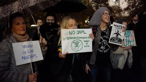 US authorities deny route for controversial oil pipeline in North Dakota in major win for protesters