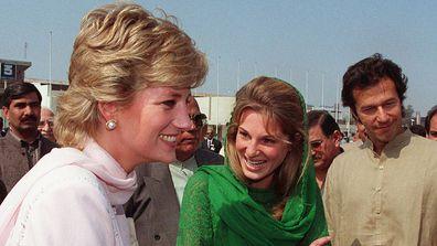 Princess Diana and Jemima Khan 1996 in Lahore, Pakistan