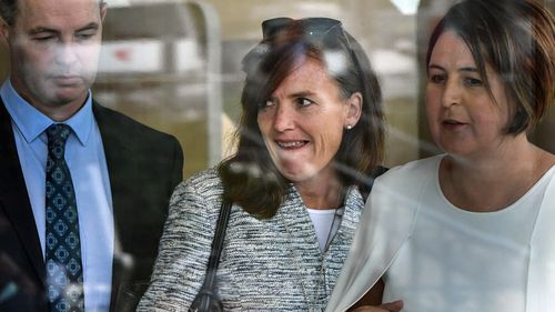 Katherine Alexander from the NSW Department of Family and Community Services (FACS) is seen at the inquest into the disappearance of William Tyrrell at the new Forensic Medicine & Coroner's Court Complex (FMCCC) at Lidcombe, Sydney.