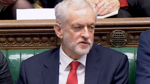 UK Labour leader Jeremy Corbyn appears to call Prime Minister Theresa May a 'stupid woman' in parliament.