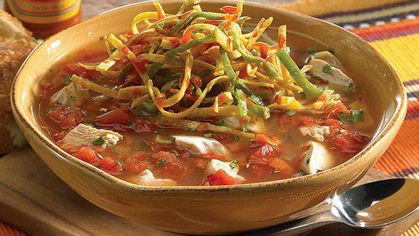 Chipotle chicken tortilla soup