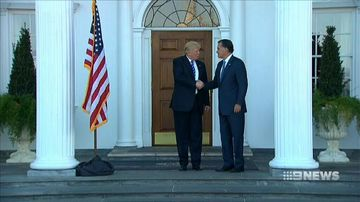 VIDEO: Donald Trump appears to reconcile with Mitt Romney