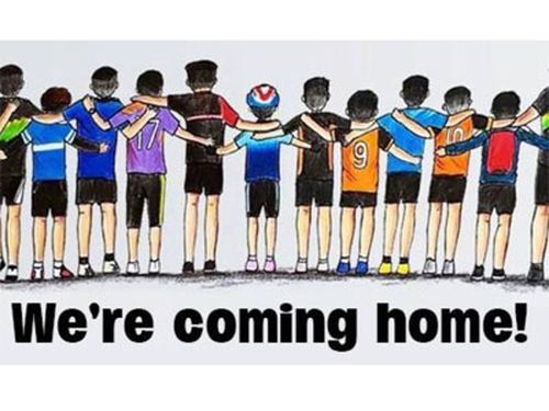 Social media users also took to sharing messages of support to the young boys. Picture: Twitter.