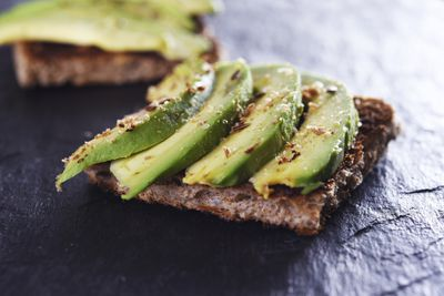 <strong>Avocado on toast (152 calories)</strong>