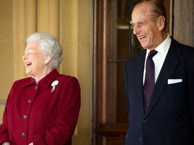 The Queen and Prince Philip share a laugh