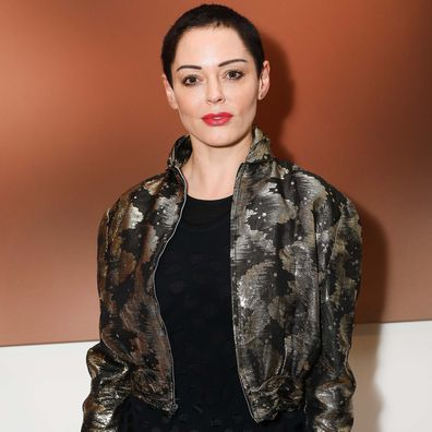 """Rose McGowan attends a private view of Joe Corre's new exhibition """"Ash From Chaos"""" at Lazinc on April 19, 2018 in London, England."""