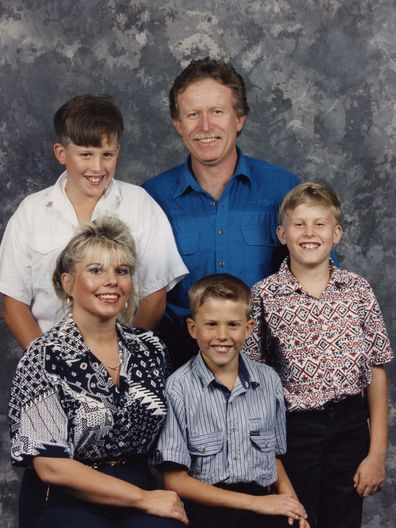 Karen and husband Andrew with their sons.