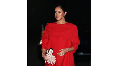 Meghan arrives in Morocco for three-day tour, February 2019.