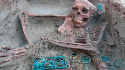 Ancient human remains in more than 100 burial sites have been discovered.