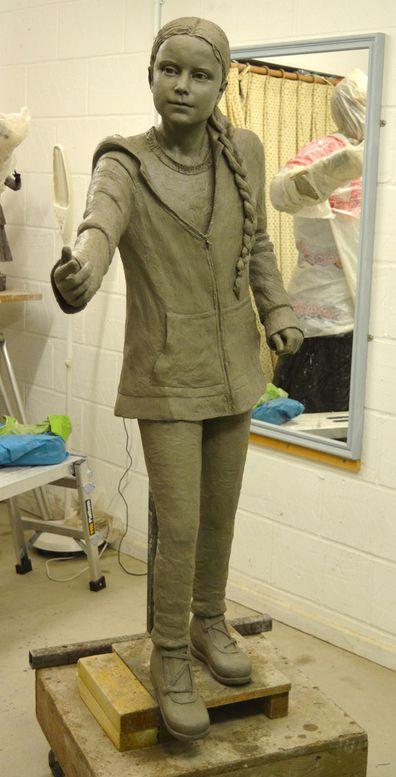 Christine Charlesworth's sculpture of Greta.