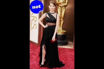 Sorry Anna Kendrick, but this dress is definitely not pitch perfect. It looks like something we'd regret wearing to a school formal.
