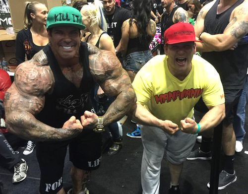 """Rich Piana claimed everything was """"all good"""" after the face slapping incident. Source: Facebook"""