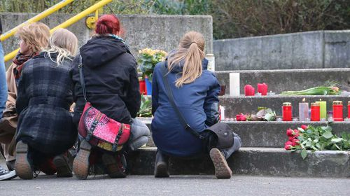 A memorial for victims of the Germanwings disaster. (AAP)