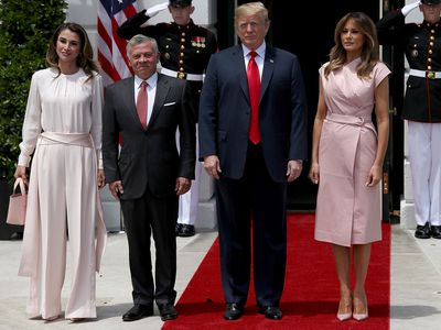 Jordan's royal couple meets the Trumps, 2018