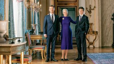 Prince Frederik, Queen Margrethe, Prince Christian