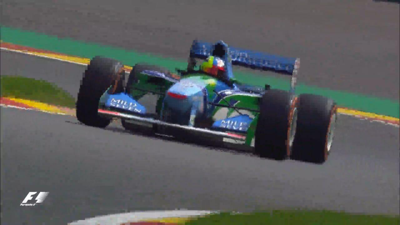Schumacher's son honours his father